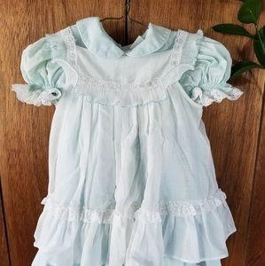 Vintage Baby Blue Byran Lacey Beautiful Dress